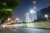 Modern City At Night In Guangzhou