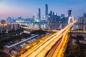 Zhujiang New Town In Nightfall