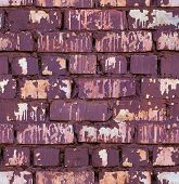 seamless red colored brick wall texture