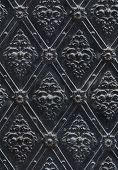seamless texture nailed metal floral decoration