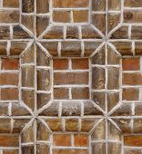 seamless texture red brick frame wall