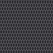 Snake Skin Texture. Seamless Pattern Black On White Background. Vector