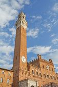 The Torre Del Mangia Is A Tower In Siena (italy)