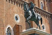 The Equestrian Statue Of Bartolomeo Colleoni In Venice