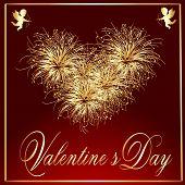 Valentine's-Maroon & Gold Fire Works