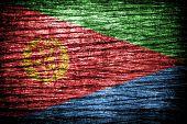 Eritrea Flag on old wood background