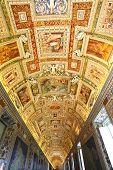 Beautiful ceiling fescos of Vatican Museum