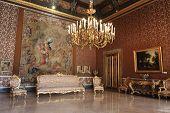 Grand hall of Napoli palace, Italy