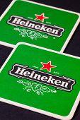 Beermats From Heineken Lager Beer