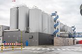 Huge, Industrial Containers With Beer