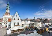 Historic Poznan City Hall On Main Square, Poland
