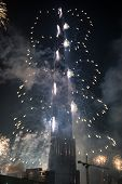 New Year Celebrations Fireworks At Burj Khalifa In Dubai