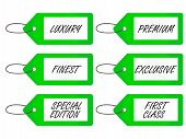 Luxury Tags 4 Green
