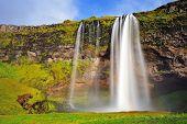 Seljalandsfoss, Beautiful Waterfall In Southern Iceland