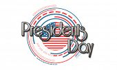 Creative illustration of United State American flag design for Presidents Day celebration on white background.