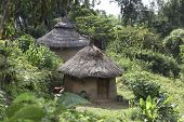 picture of mud-hut  - Traditional Ethiopian house - JPG