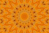 Pattern Of Macro Orange Yellow Persimmon Surface
