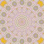 Pattern Of Multicolored Closeup Cotton Cloth Pattern