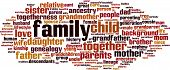 stock photo of niece  - Family word cloud concept isolated on white - JPG