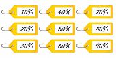 Discount Tags 2 Yellow