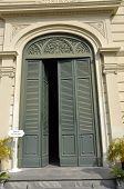 Green Vent Door Pattern Arch Classic