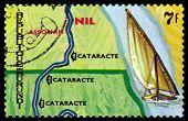 Vintage  Postage Stamp. Animals Burundi, Nil, Assouan.