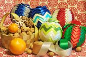Christmas Decorations. Christmas. Christmas Eve. Christmas Ornaments With Satin Belt.
