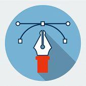 Vector pen tool icon