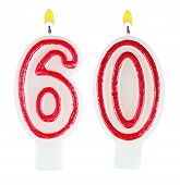 Birthday Candles Number Sixty