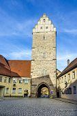 Noerdlinger Gate In Famous Old Romantic Medieval Town Of Dinkelsbuehl