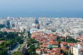Greece, Thessaloniki, Morning View Of The Historic Center
