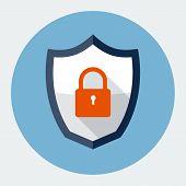 Security shield symbol icon vector illustration