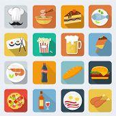 Food flat icons, set 1