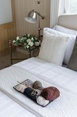 Tray Of Crochet In Bedroom