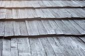 foto of shingles  - Old wooden shingle roof - JPG