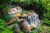 Beautiful Waterfall In Kanchanaburi, Thailand