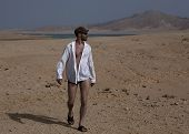 picture of deserted island  - The tired traveler on a deserted island - JPG