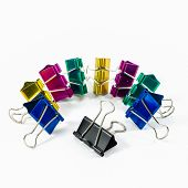 Colorful Binder Clips Isolated On White
