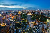 After Sunset Bangkok Cityscape