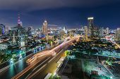 Chaophraya River And Bangkok Cityscape
