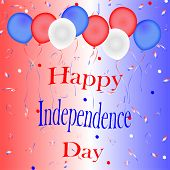 Red, White and Blue Independence Day Sign