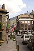 Residents And Tourists Stroll Through The Streets   In Andorra La Vella