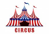 pic of circus tent  - Vintage red striped circus tent in red - JPG
