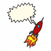 stock photo of spaceships  - cartoon spaceship with speech bubble - JPG