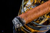 picture of cigar  - cigar and whiskey - JPG