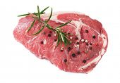 stock photo of rib eye steak  - Raw rib - JPG