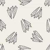 image of okra  - Okra Doodle - JPG