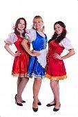 Three  German/Bavarian women