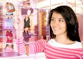 pic of internet shop  - clothes shopping online  - JPG