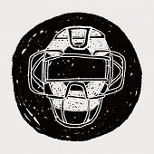 picture of umpire  - Baseball Catcher Doodle - JPG